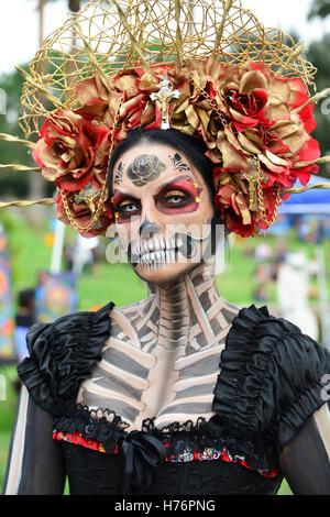 Tag der Toten feiern auf dem Hollywood Cemetery in Los Angeles, Kalifornien, USA - Stockfoto