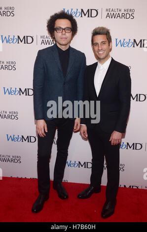 New York, NY, USA. 3. November 2016. Eine große Welt, Ian Axel und Tschad König besucht WebMD Health Hero Awards - Stockfoto