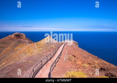 Aussicht zum Atlantischen Ozean von Entallada Leuchtturm, Fuerteventura, Kanarische Insel, Spanien. - Stockfoto