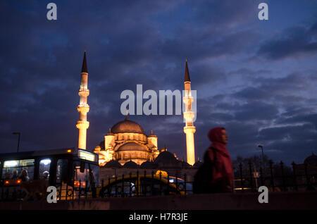 Istanbul bei Nacht, Türkei - Stockfoto