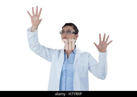 Ärztin mit Digitalanzeige - Stockfoto