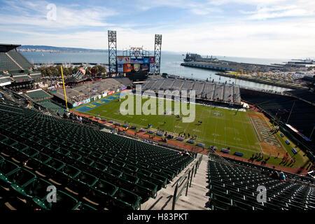 Dez 31, 2011; San Francisco, Ca, USA; allgemeine Ansicht der AT&T Park vor dem Spiel zwischen der Illinois fighting - Stockfoto