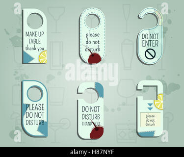 Marke Identität Elemente-Tür Knopf oder Aufhänger Zeichen Set-stören ...