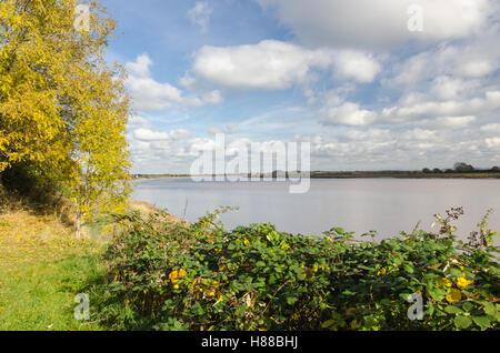 Weite des Flusses Severn am Newnham auf Severn in Gloucestershire - Stockfoto