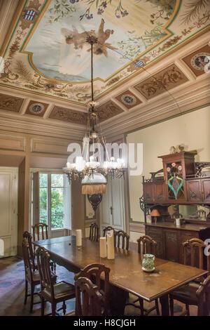 Interieur einer toskanischen Villa mit Trompe l \' oeil gestrichen ...