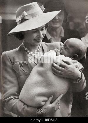 Prinzessin Elizabeth, zukünftige Elizabeth II., geboren 1926.  Königin von Vereinigtes Königreich, Kanada, Australien und Neuseeland. Hier zu sehen bei einem Besuch in der Erbe Handwerksschulen für Kinder verkrüppelt, Chailey, Sussex, England 27. Juni 1945.