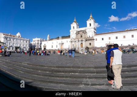 Plaza San Francisco, Quito, UNESCO World Heritage Site, Ecuador, Südamerika - Stockfoto