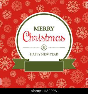 Erstaunliche Weihnachtskarte im retro-Stil, Vektor-illustration - Stockfoto