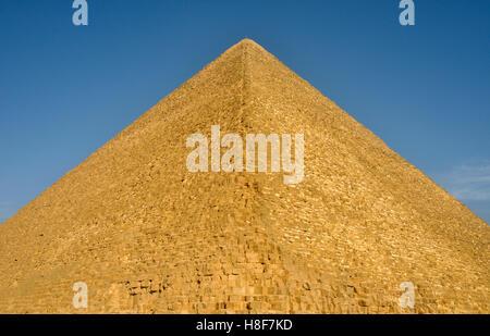 Große Pyramide von Giza, Pyramide von Khufu oder Cheops Gizeh Nekropole in der Nähe von Kairo, Ägypten, Nordafrika - Stockfoto