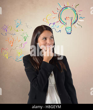 Geniale Idee unter vielen Ideen - Stockfoto