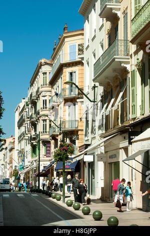Frankreich, Cote d ' Azur, Cannes, Rue D´ Antibes, Elegante Einkaufsstrasse - Stockfoto