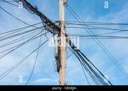 Hydro und Telefonmast Stockfoto, Bild: 69576071 - Alamy