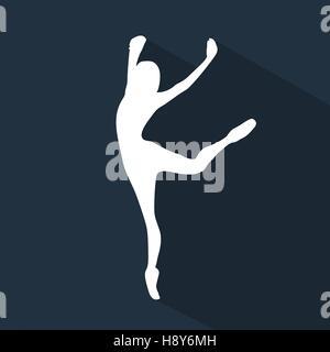 Flache Silhouette Tanz - Stockfoto