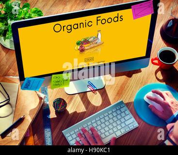 Bio-Lebensmittel ökologische Ernährungskonzept geschmackvolle Natur - Stockfoto