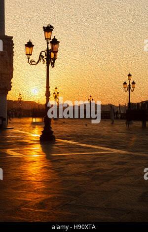Sonnenaufgang in Venedig - Stockfoto