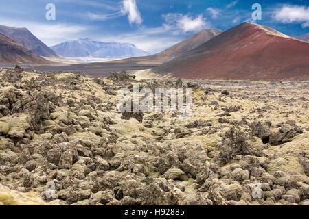 Vulkanische Landschaft auf der Halbinsel Snaefellsnes in Island. - Stockfoto