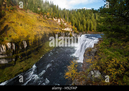 Oberen Mesa fällt auf der Henrys Fork River in Idaho - Stockfoto