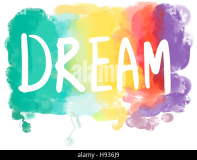 Traum Wunsch Hoffnung Inspiration Phantasie Ziel Vision Concept - Stockfoto