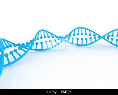 3D Darstellung der DNA - Stockfoto