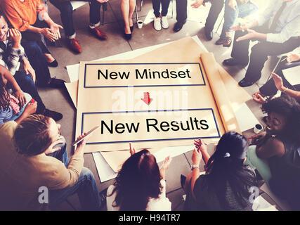 Einstellung gegenüber Positivität Negativität denken Konzept - Stockfoto