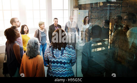 Business-Team-Organisation Brainstorming-Sitzung Konzept - Stockfoto