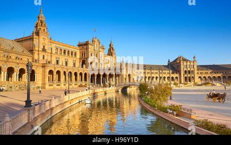 Plaza de Espana - Sevilla, Andalusien, Spanien - Stockfoto