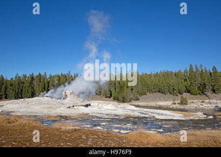 Riesiger Geysir im Yellowstone National Park, USA - Stockfoto