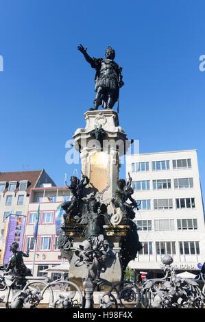 Augsburg: Augustusbrunnen (Augustus-Brunnen), Schwaben, Swabia, Bayern, Bayern, Deutschland - Stockfoto