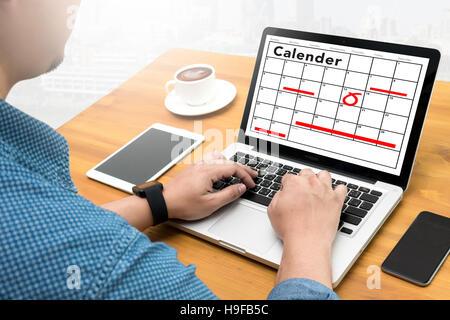 Kalender Planer Organisationsverwaltung erinnern - Stockfoto