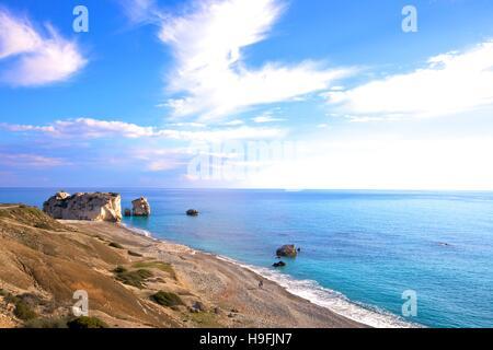Aphrodite Felsen, Paphos, Zypern, östlichen Mittelmeer - Stockfoto