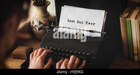 Mann schreiben beste Papa immer - Stockfoto