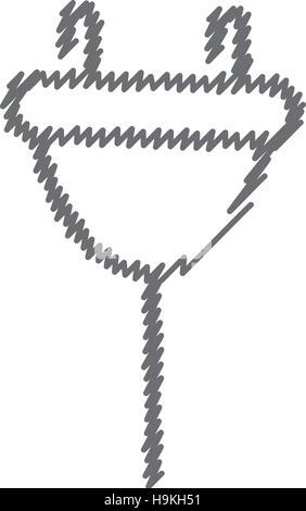 Verlängerungskabel Vektor icon. Steckdose flach Abbildung mit langen ...