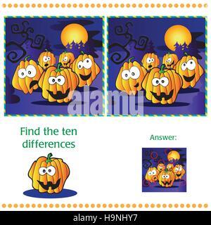 halloween visuelle r tsel finden sie zwei identische bilder von k rbissen antwort enthalten. Black Bedroom Furniture Sets. Home Design Ideas