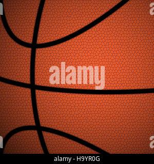 Orange/braun Basketball hautnah Abbildung - Stockfoto