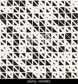 Vektor nahtlos schwarz / weiß Dreieck unregelmäßigen geometrischen Raster - Stockfoto