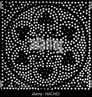 Vektor geometrische Musterdesign. Abstrakte Punkte wiederholen - Stockfoto