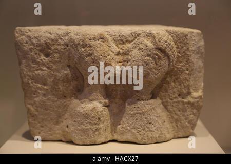 Der Kuss von Osuna. Iberische Linderung von Osuna, Provinz Sevilla, Spanien. 3.-2. BCE. Nationales Archäologisches - Stockfoto