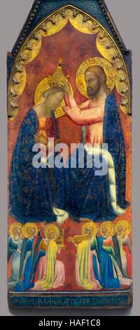 Die Krönung der Jungfrau von Puccio di Simone, ca. 1350, Museum der bildenden Künste, Gent, Belgien, West-Flandern, - Stockfoto
