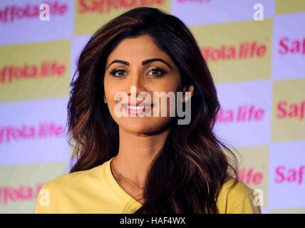 Shilpa Shetty indischen Bollywood Hindi Filme film Schauspielerin während der World Heart Day Programm durch Saffola - Stockfoto