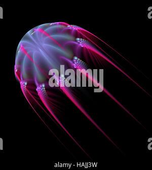 Abstrakte Fraktal Jelly Fisch Form computergenerierte Bild