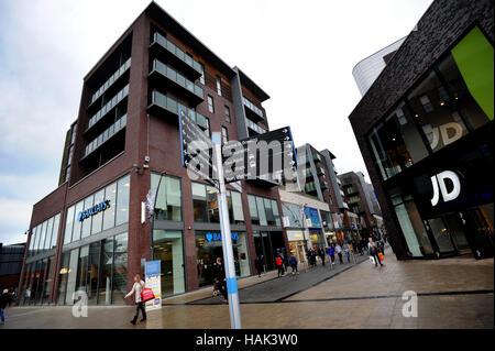 Der Rock, Einkaufs- und Unterhaltungsmöglichkeiten Veranstaltungsort, Bury, Lancashire. Bild von Paul Heyes, Donnerstag, - Stockfoto
