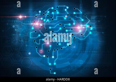 künstliche Intelligenz-Gehirn - Stockfoto