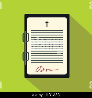 Testament Briefsymbol flach - Stockfoto