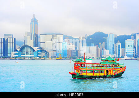 Chinesische Fähre. Hong Kong - Stockfoto