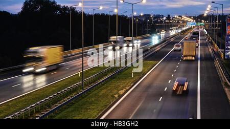 Kontrolliertzugang Autobahn in Posen - Stockfoto