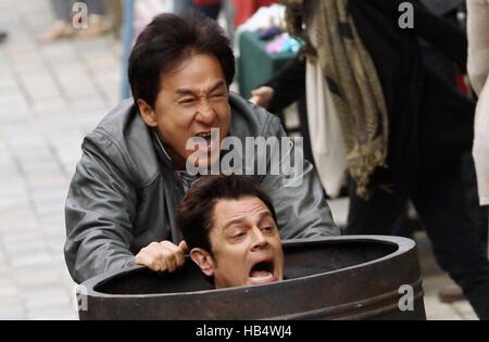 Skiptrace ist eine 2016 Hong Kong-chinesisch-amerikanischen Action-Komödie unter der Regie von Renny Harlin, produziert - Stockfoto