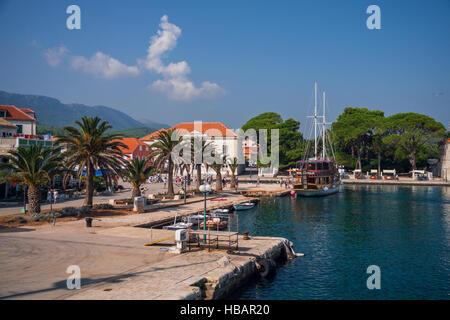 Jelsa, Makarska Riviera, Kroatien - Stockfoto