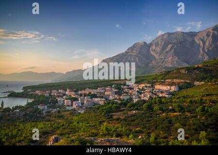 Promajna, Makarska Riviera, Kroatien - Stockfoto