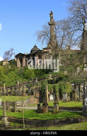 Alter Friedhof in Glasgow, Scotland, UK - Stockfoto