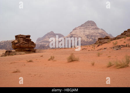 Wadi Rum Wüste, Provinz von Aqaba, Jordanien - Stockfoto